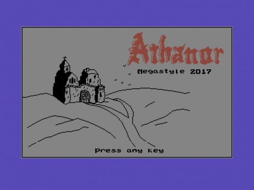 Athanor The Awakening, textovka s grafikou pro Commodore C16, C116, Plus/4