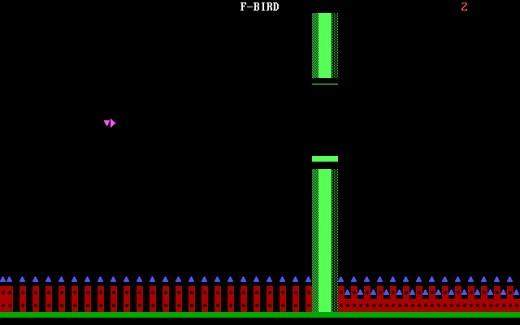 F-BIRD, Flappy Bird klon pro MS-DOS