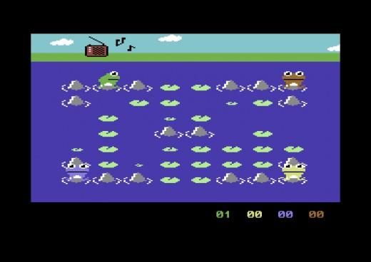 Frogs, C64 novinka pro 4 hráče
