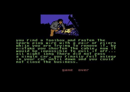 La Carretera, nová textovka pro Commodore 64