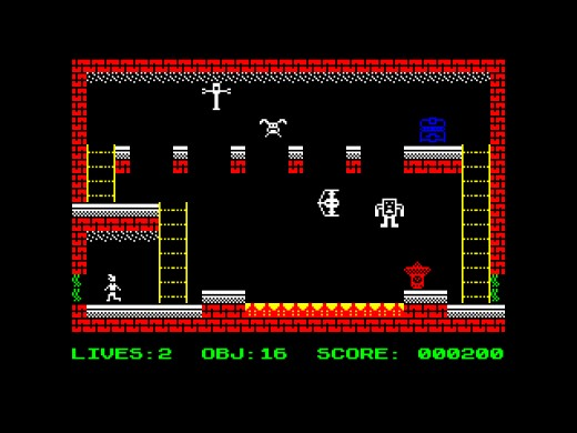The Treasure of Lumos, nová hopsačka pro ZX Spectrum