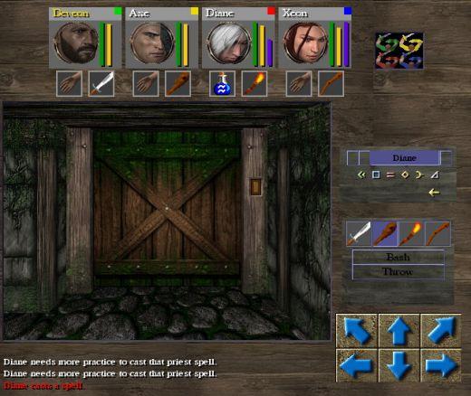 Mines of Grimvale, chodbičkárna a lá Dungeon Master
