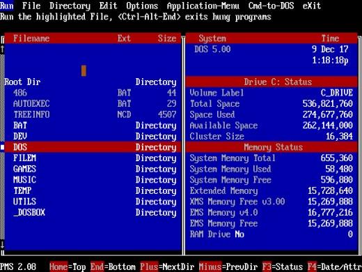 Obrazem: 24 správců souborů pro DOS