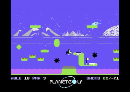 Planet Golf, nejnudnější sport na světě trochu jinak (C64)