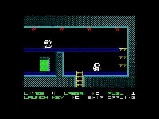 Space Escape, akčně hádanková novinka pro ZX Spectrum