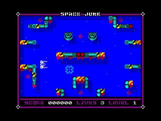 Space Junk, hádanko-střílečka pro ZX Spectrum
