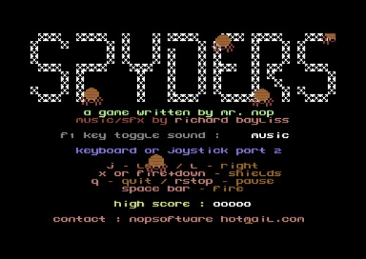 Spyders, nový Space Invaders klon pro Commodore 64
