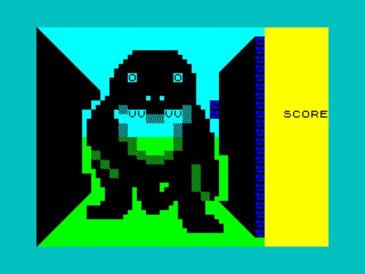 3D Monster Maze v barvě a pro ZX Spectrum