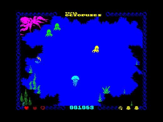 Three Octopuses, mořské plody v akci (ZX Spectrum)