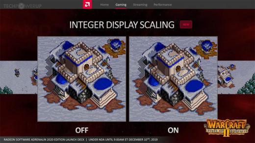 Integer scaling na AMD kartách – a tentokrát aj pre staršie modely