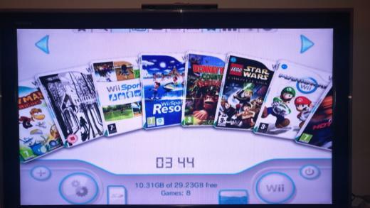 Retro gaming a Nintendo Wii
