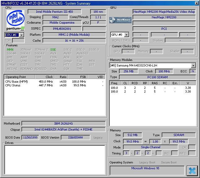 HWiNFO po novom aj pre Windows 95 a DOS