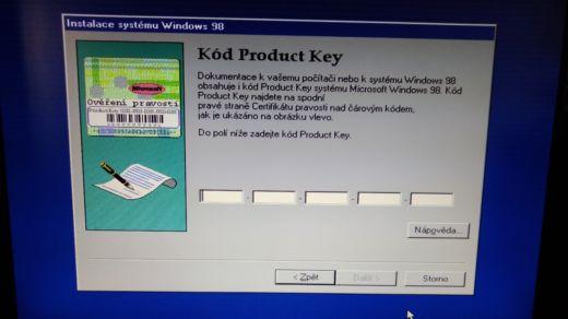 """Windows 98 na """"moderním"""" PC"""