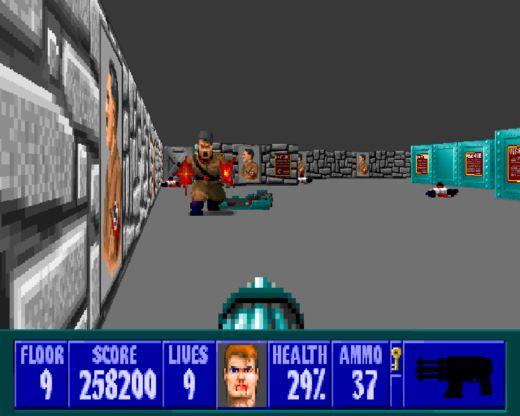 Wolfenstein 3D – Agent Blazkowicz kosí nácky