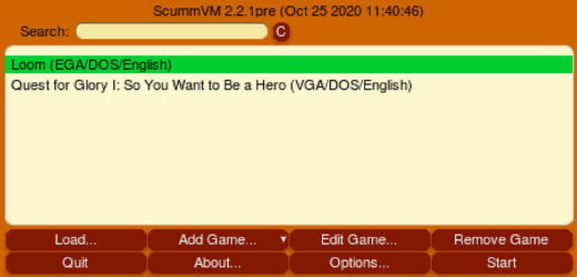 Nový ScummVM 2.2.1 pre Android