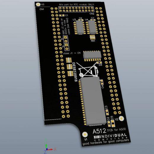 A512, 512kB rozšíření pro Amigu 500