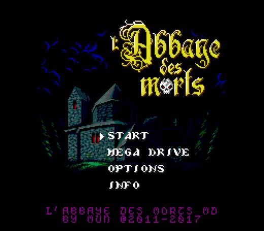L'Abbaye des Morts pro konzoli SEGA Mega Drive