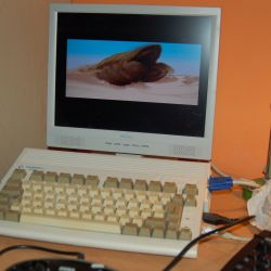 Amiga 600 – turbokarta a scandoubler jsou doma