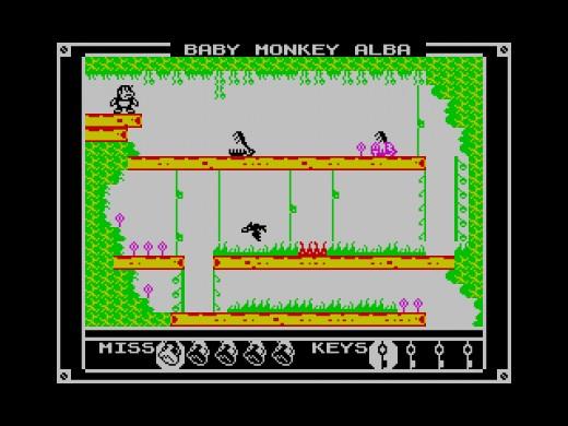 Baby Monkey Alba, nová hopsačka pro ZX Spectrum