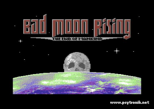 Bad Moon Rising, náckové na Měsíci! (C64)