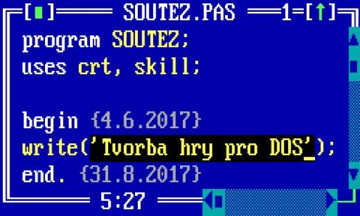 Soutěž – tvorba hry pro DOS – 2017