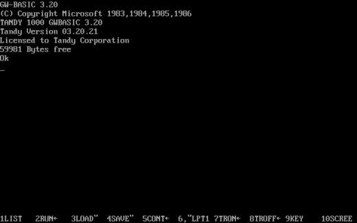 Microsoft uvolnil zdrojové kódy GW-BASIC