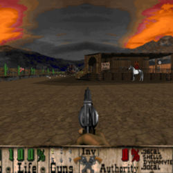 Bastardos, westernová FPS akce na DOOM enginu