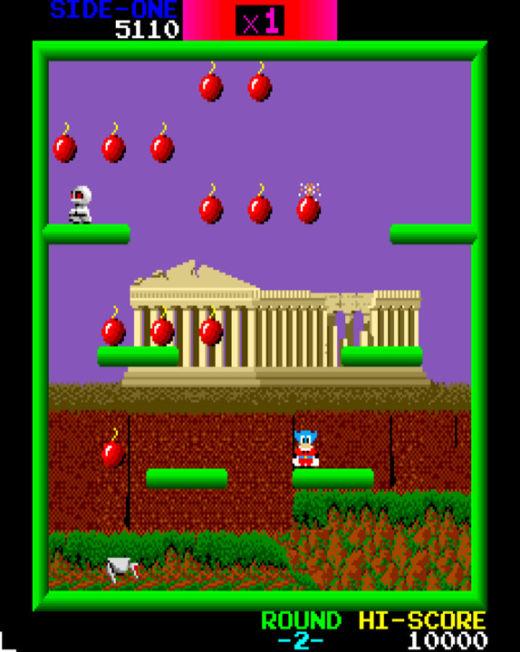 Bomb Jack, arcade verze rozpitvána a emulována