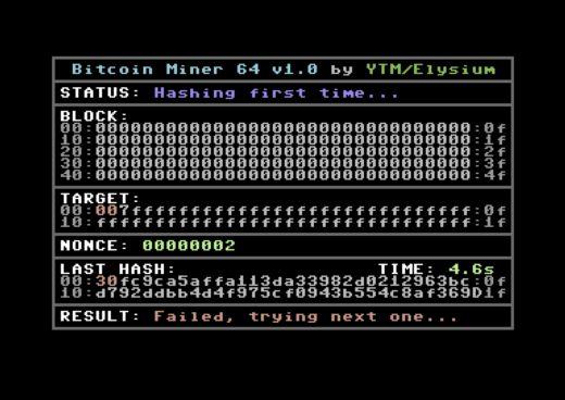 Commodore 64 a těžba bitcoinu