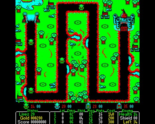 Castle Defender, tower defense novinka pro BBC Micro