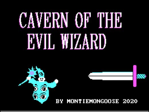 Cavern of the Evil Wizard, nová adventura pro DOS