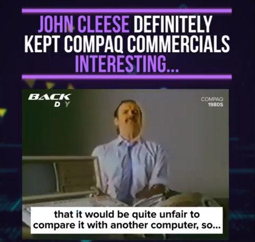 John Cleese a reklamy na Compaq
