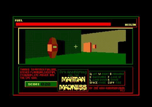 Dirk Headstrong, 3D novinka pro Amstrad CPC