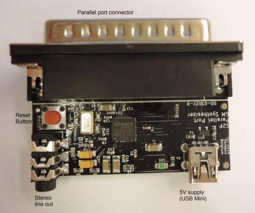 DreamBlaster S2P: miniaturní General MIDI syntetizér pro paralelní port