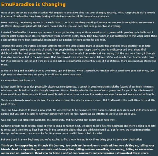 EmuParadise končí