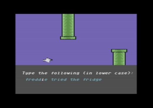 Flappy Typing, svérázná variace na Flappy Bird pro C64