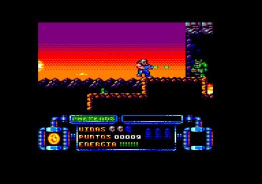 Galactic Tomb, nová akční hopsačka pro Amstrad CPC