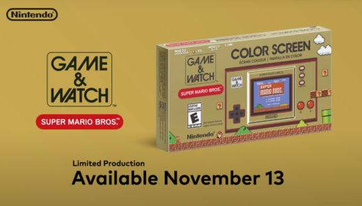Nintendo vydá speciální výroční model konzole Game&Watch