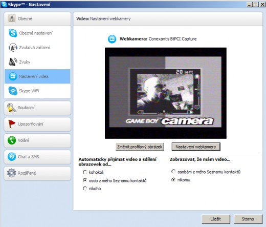 GameBoy Camera coby webkamera ke Skype