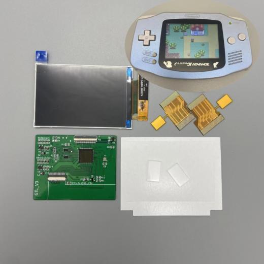 IPS podsvícená obrazovka pro váš Game Boy Advanced – bez pájení!