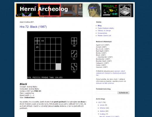 TIP ke čtení: Herní Archeolog
