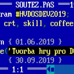 Soutěž >> tvorba hry pro DOS >> #hvdosdev2019 >> dobojováno