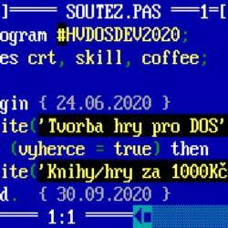 Připomenutí: soutěž ve tvorbě hry pro DOS
