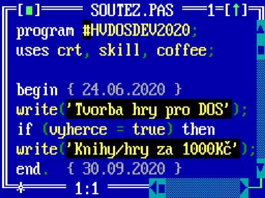 Soutěž ve tvorbě hry pro DOS – deadline!