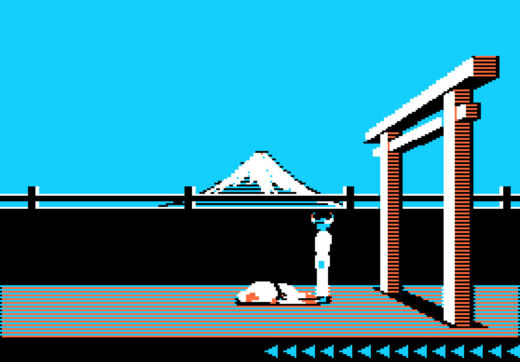 Karateka pro dva hráče (C64 a Apple II)