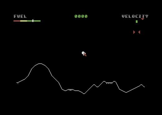 Lunar Lander – the Eagle has landed… ale kur*afix! (C64)