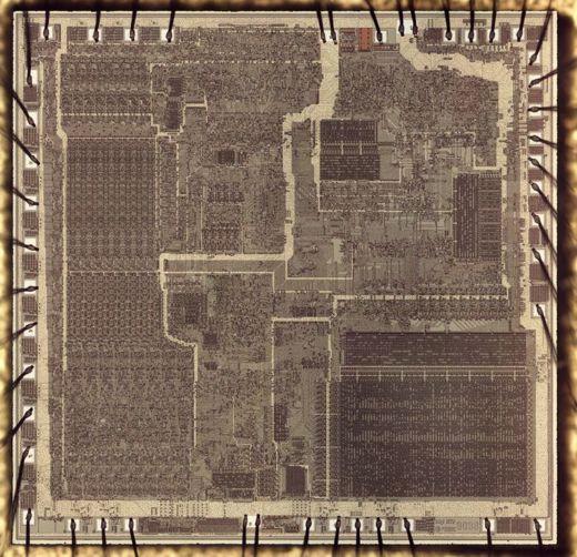 Procesor 8086 pod mikroskopem