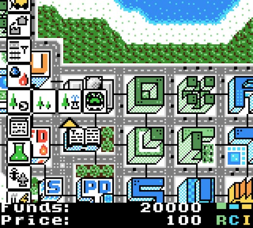 µCity – SimCity na cesty (GBC)