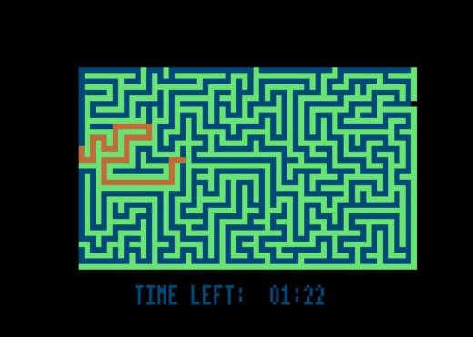 Minotaur 16k, bludiště pro Atari 600XL (16kB RAM)