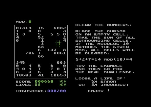 Modulot, nová hlavolamka pro Commodore 64